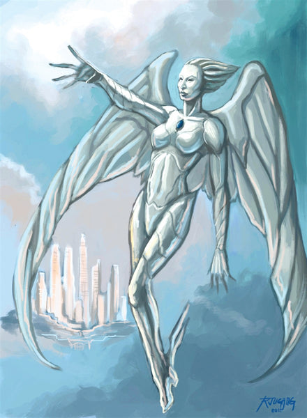 Harmonious Angel Art Gallery Canvas Print Exodus TCG