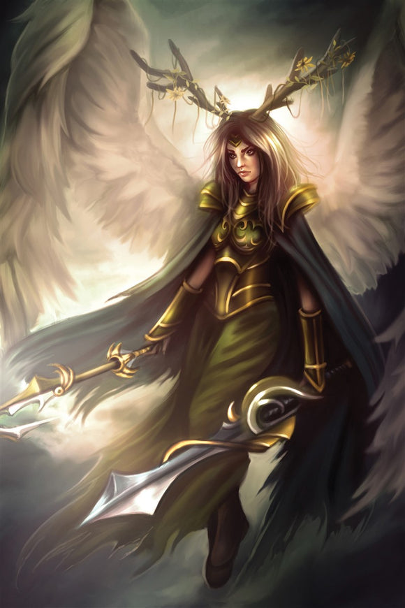 Heavenly Blade Hera Art Gallery Canvas Print Exodus TCG