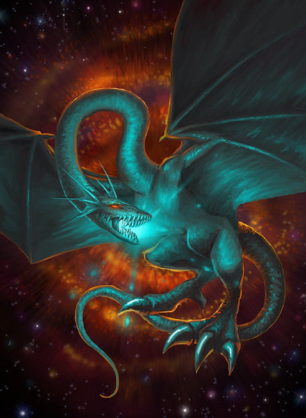 Stellar Elliptical Dragon Art Gallery Canvas Print Exodus TCG