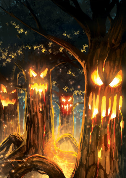 Searing Scorchgrove Art Gallery Canvas Print Exodus TCG