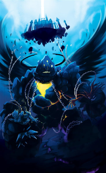 Shackled Silencer Skyborns Regret Art Gallery Canvas Print Exodus TCG