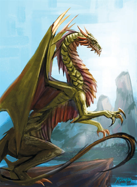 Slither Drake Art Gallery Canvas Print Exodus TCG