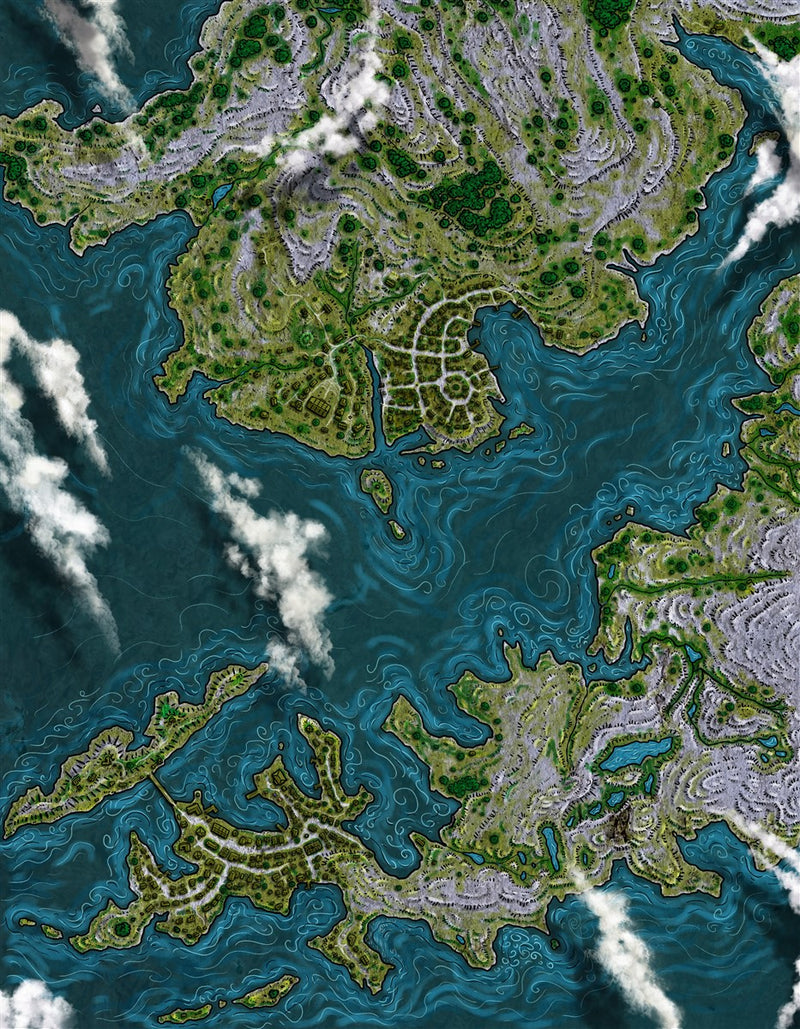 Edgepond City Fantasy Map
