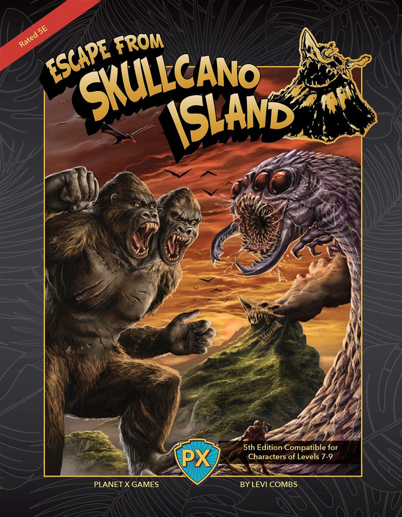 Escape from Skullcano Island Gallery Canvas Art Print
