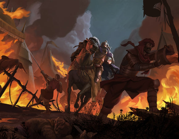 Fel Kade's Charge RPG Fantasy Art Gallery Canvas Nord Games