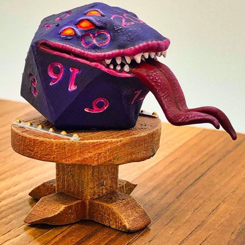 Fumbles The D20 Mimic Legends of Calindria 3D Printed Miniature Primed