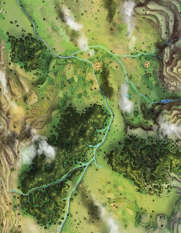 Goldwyn Valley RPG Fantasy Map Gallery Canvas Alyssa Faden