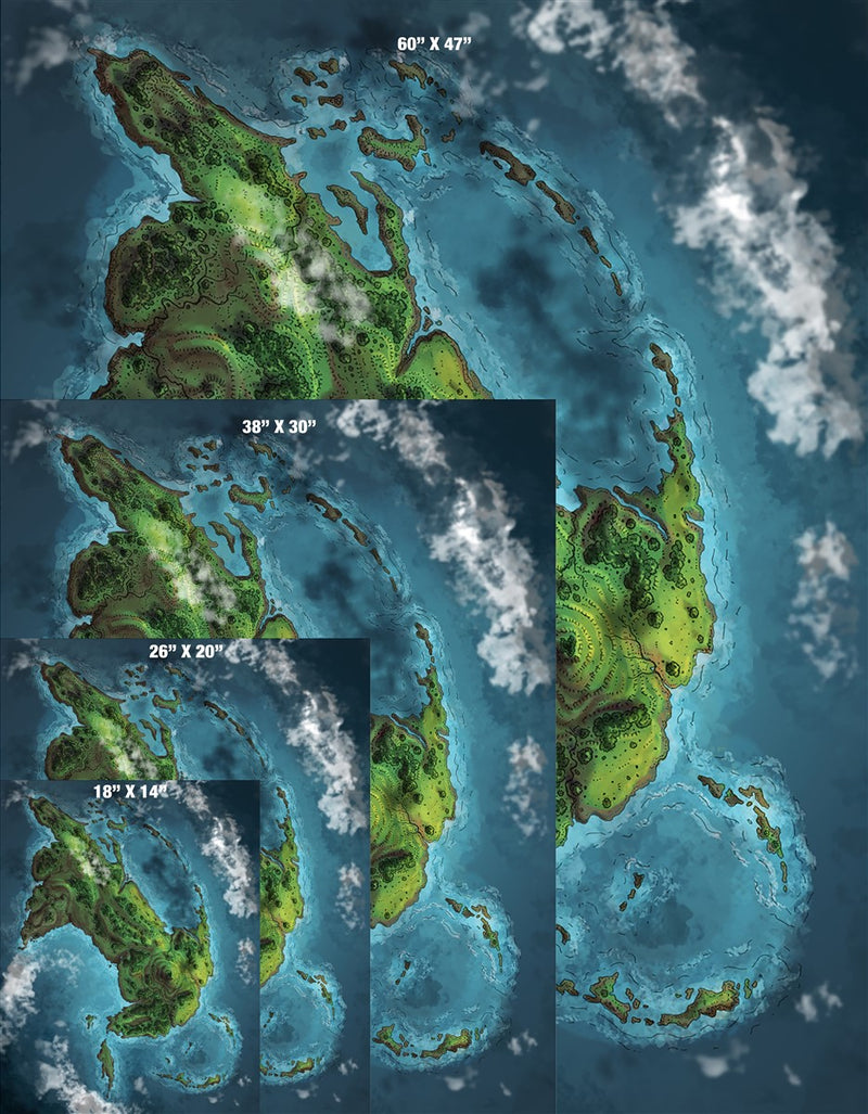 The Fallen God Island Map