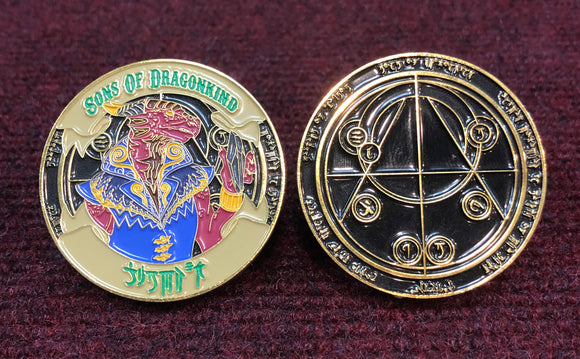 Sons Of Dragonkind Challenge Coin