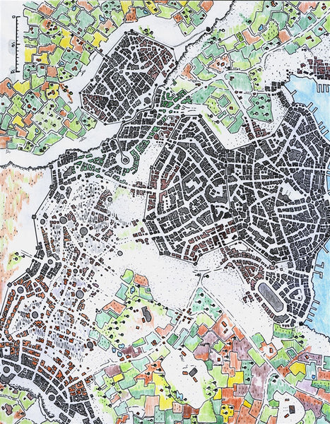 Icewell City RPG Fantasy Map Gallery Canvas Alyssa Faden