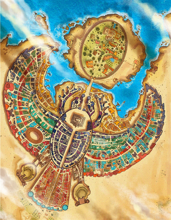 Janwall City Fantasy Map Gallery Canvas Art Print Alyssa Faden