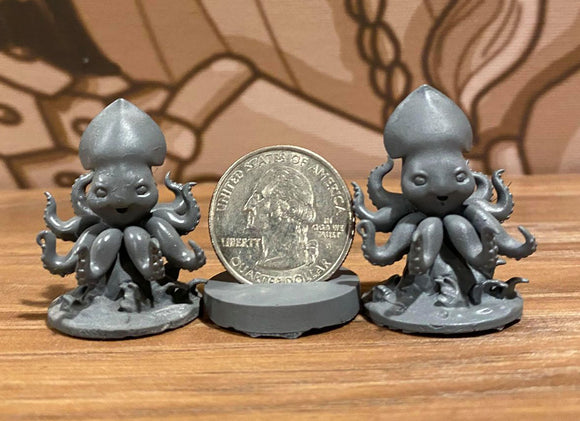 Krispy and Kolt Kraken 3d Printed Miniature Legends of Calindria