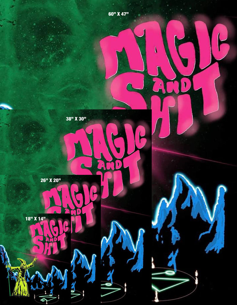 Magic N Shit Large Gallery Canvas Art Print