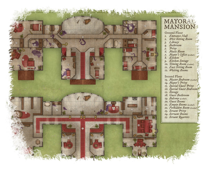 Mayoral Mansion Map Cotton T-Shirt