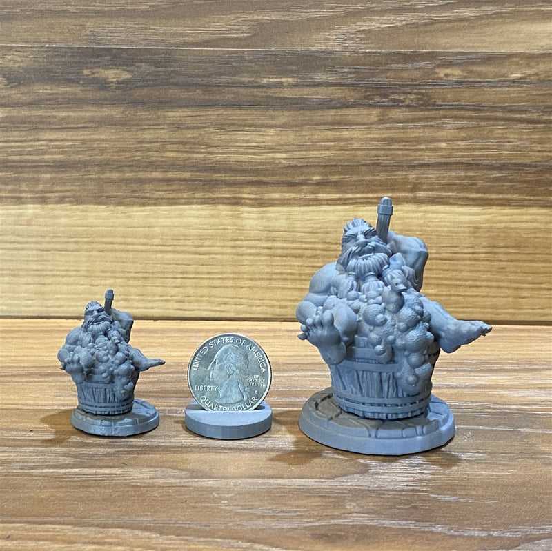 Mifur The Stinky 3D Printed Miniature Legends of Calindria Primed
