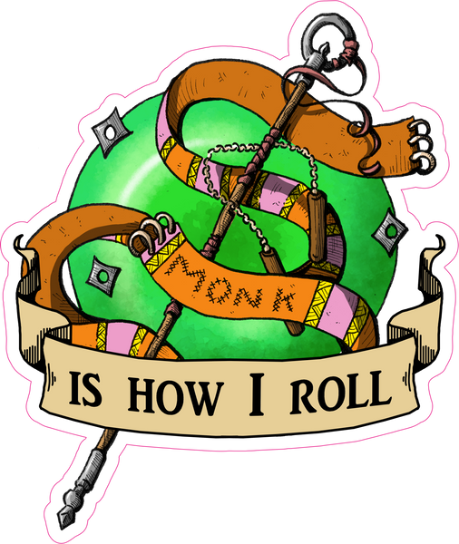 "Monk Is How I Roll RPG 6"" Class Vinyl Sticker"