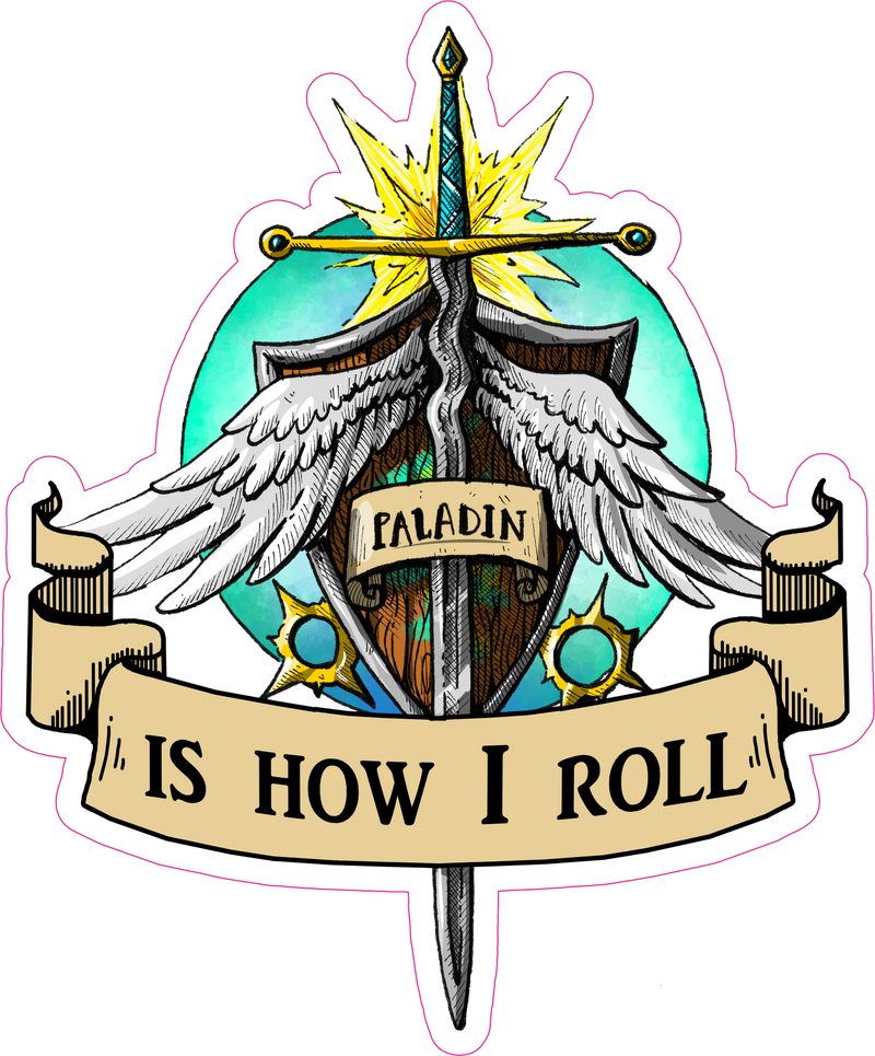 "Paladin Is How I Roll RPG 6"" Class Vinyl Sticker"
