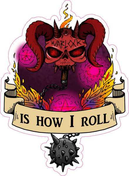 "Warlock Is How I Roll RPG 6"" Class Vinyl Sticker"