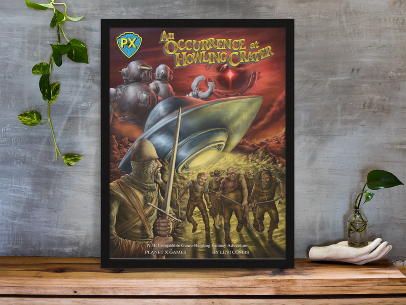 Occurrence at Howling Crater Cover Gallery Canvas Art Print