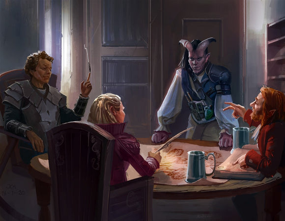 Party at the Tavern RPG Fantasy Art Gallery Canvas Nord Games