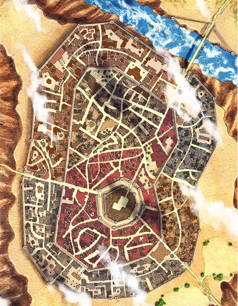 Rayley City RPG Fantasy Map Gallery Canvas Alyssa Faden