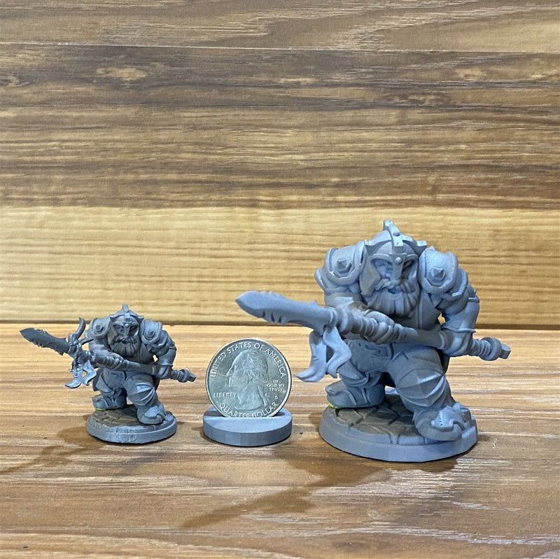 Rendal Khorfal 3D Printed Miniature Legends of Calindria Primed