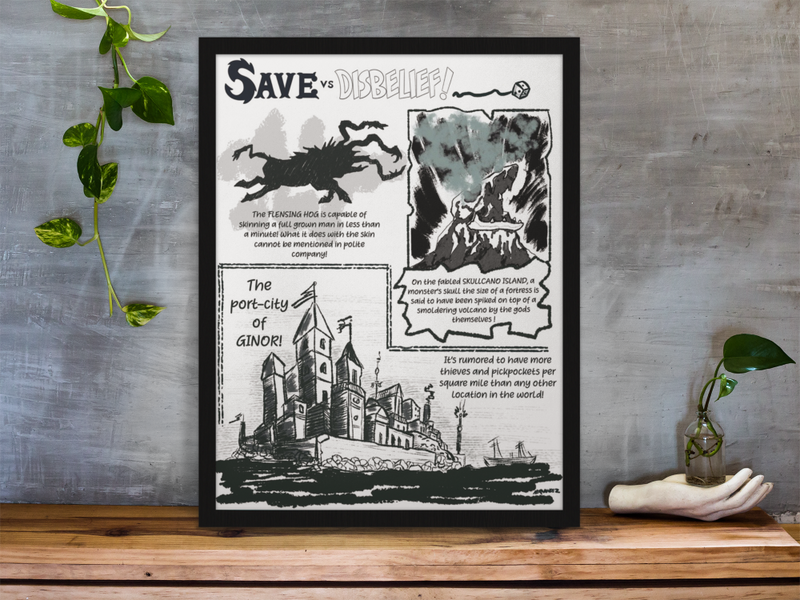 Save VS Disbelief 3 Gallery Canvas Art Print