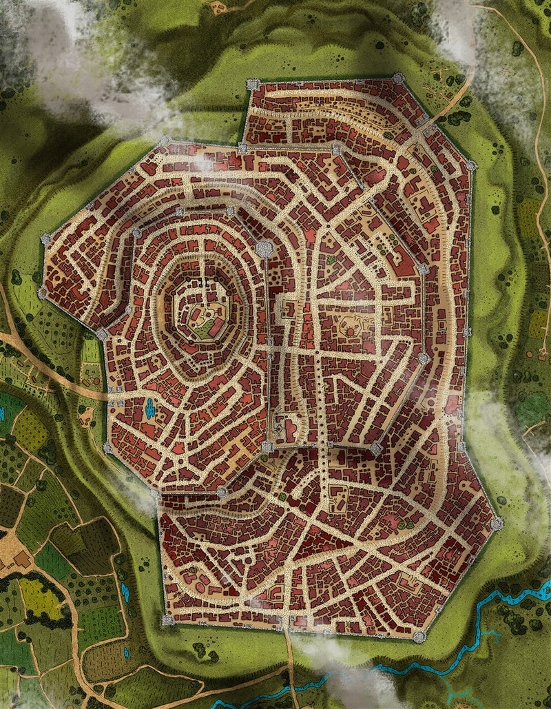 Starryfield City Fantasy Map