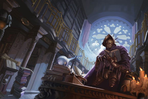 The Library RPG Fantasy Art Gallery Canvas Nord Games