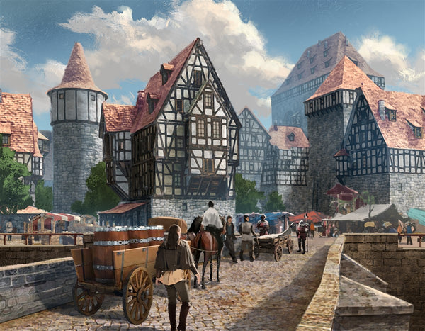 The Town RPG Fantasy Art Gallery Canvas Nord Games