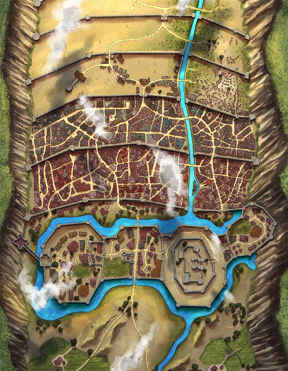 Vaatmery City RPG Fantasy Map Gallery Canvas Alyssa Faden