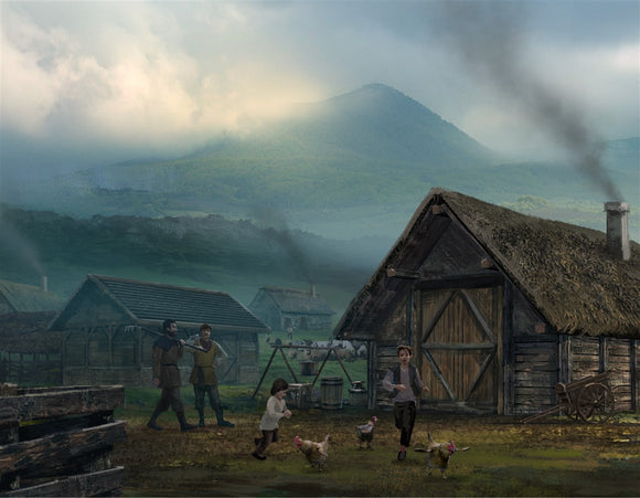The Village RPG Fantasy Art Gallery Canvas Nord Games