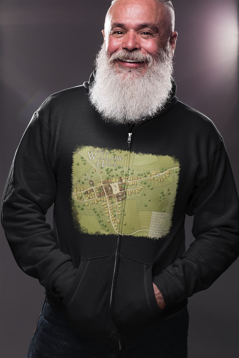 Willow Hill Map Cotton T-Shirt
