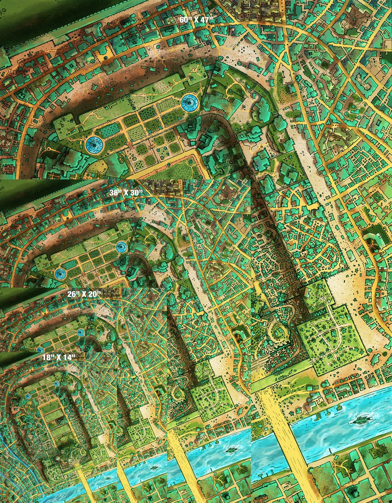 Taux City Fantasy Map