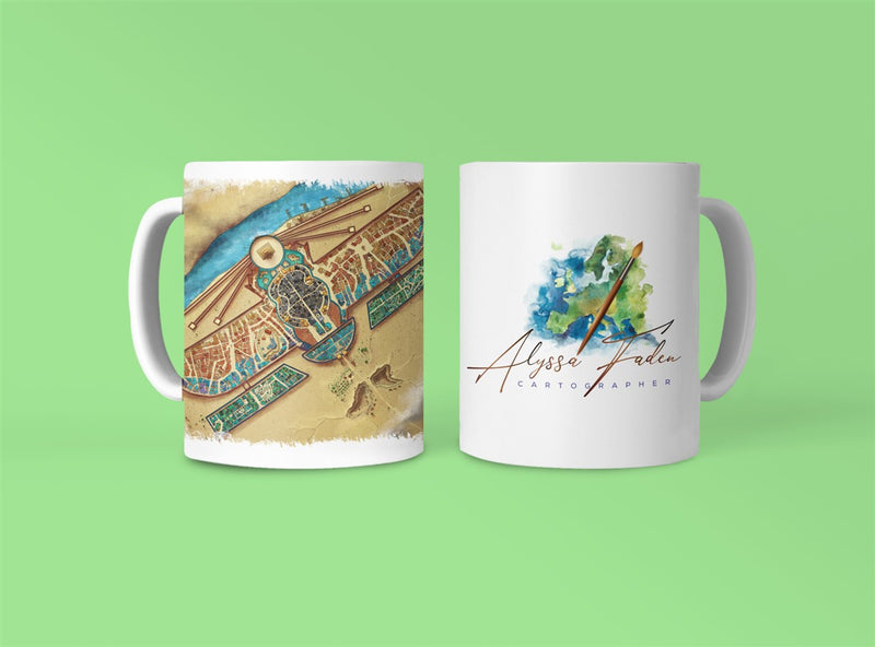 Y'Mataar City Map Coffee Mug 11oz/15oz