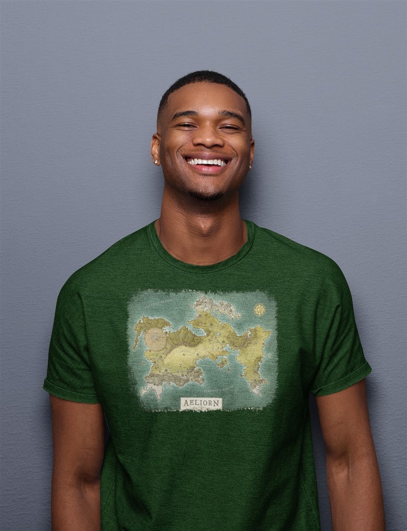 Aenarath Map Cotton T-Shirt