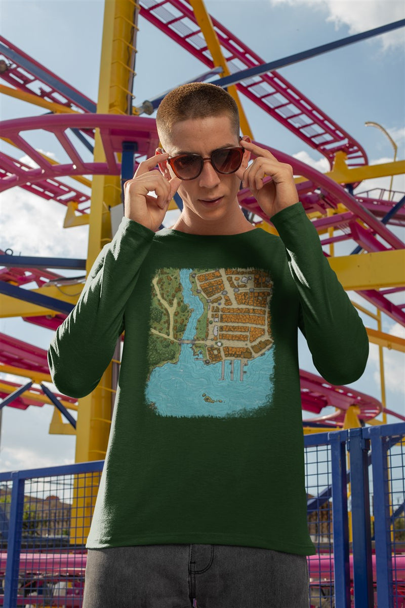 Summercoast Map Cotton T-Shirt