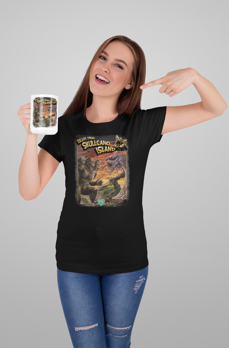 Escape from Skullcano Island Cover Art Coffee Mug 11oz/15oz
