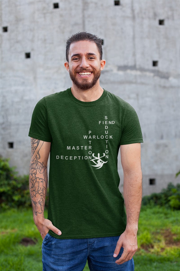 Warlock Crossword RPG Cotton T-Shirt DDG