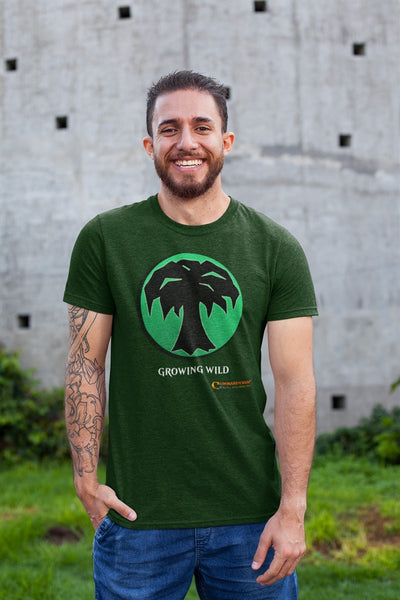 Green Growing Wild RPG Cotton T-Shirt Commanderin' MTG Podcast