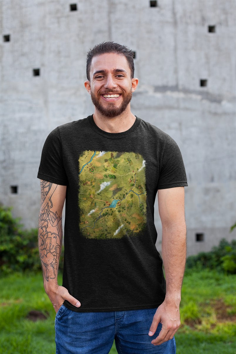 Whisper Vale Map Cotton T-Shirt