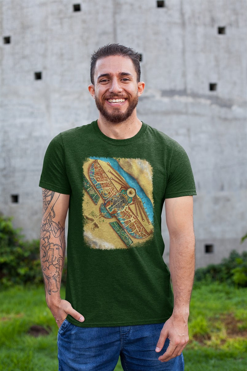 Y'Mataar Map Cotton T-Shirt
