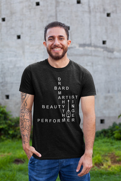 Bard Crossword Crossword RPG Cotton T-Shirt DDG