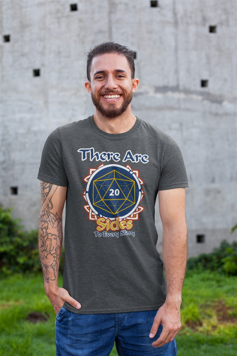 There Are 20 Sides To Every Story RPG Cotton T-Shirt