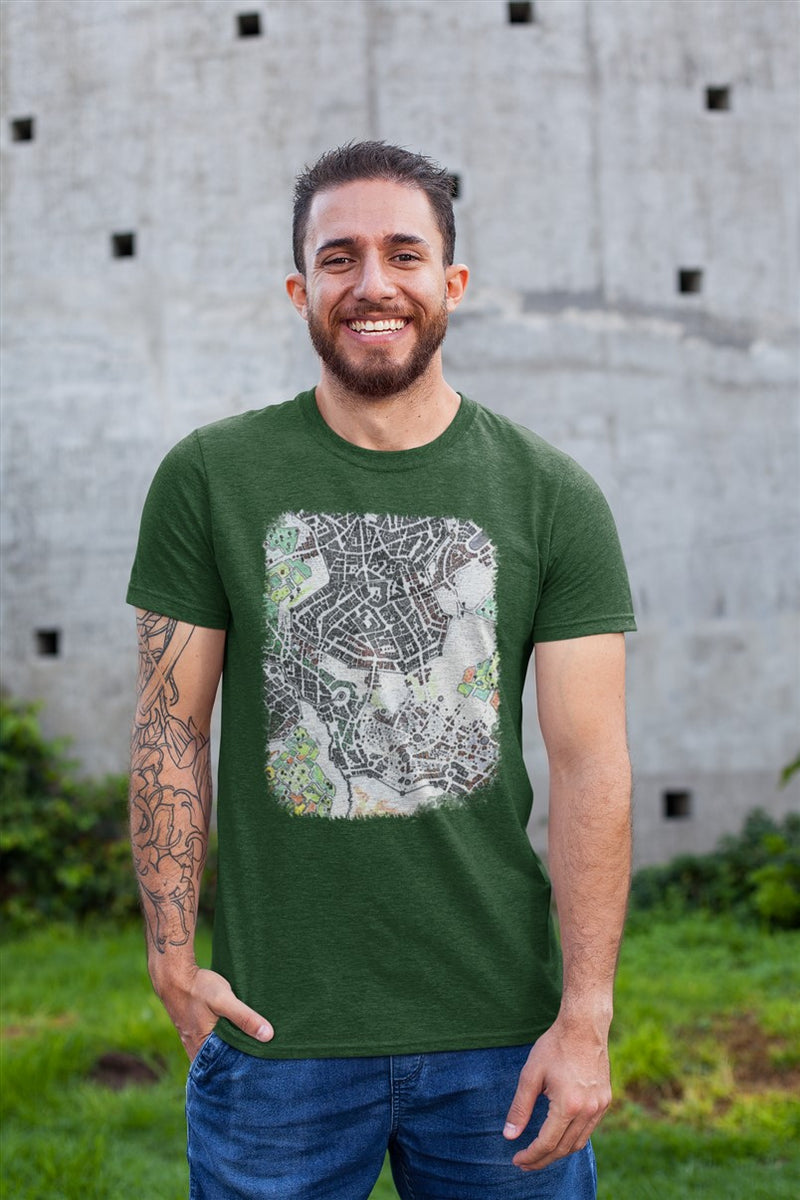 Icewell Map Cotton T-Shirt