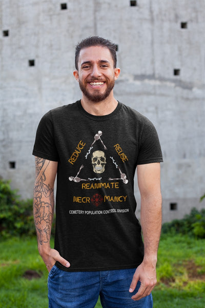 Necromancy Reduce Reuse Reanimate Recycle RPG Cotton T-Shirt