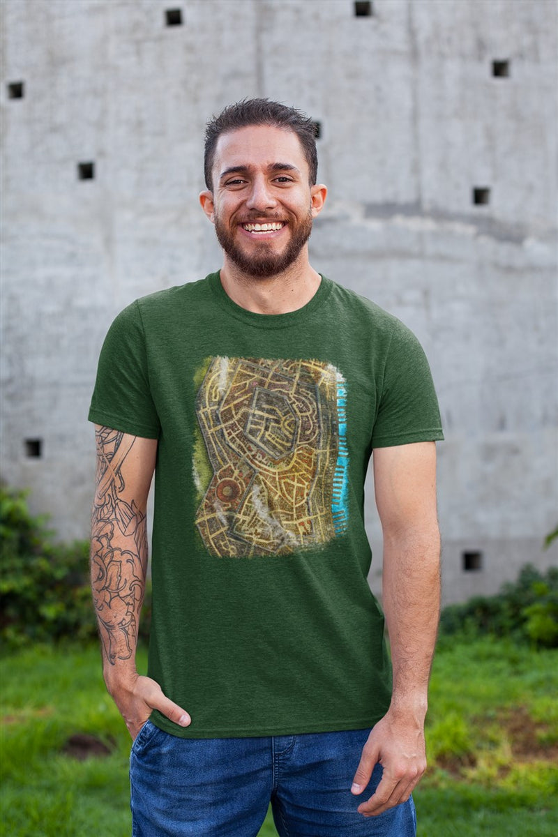 Merrowshore Map Cotton T-Shirt