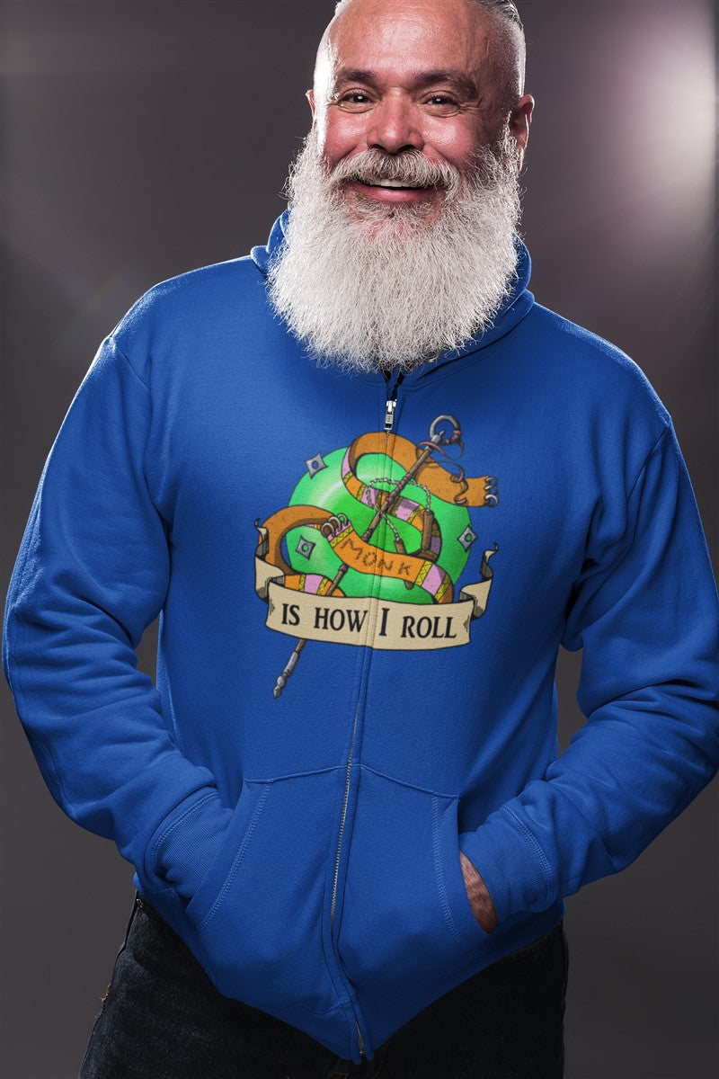 Monk Is How I Roll RPG Cotton T-Shirt