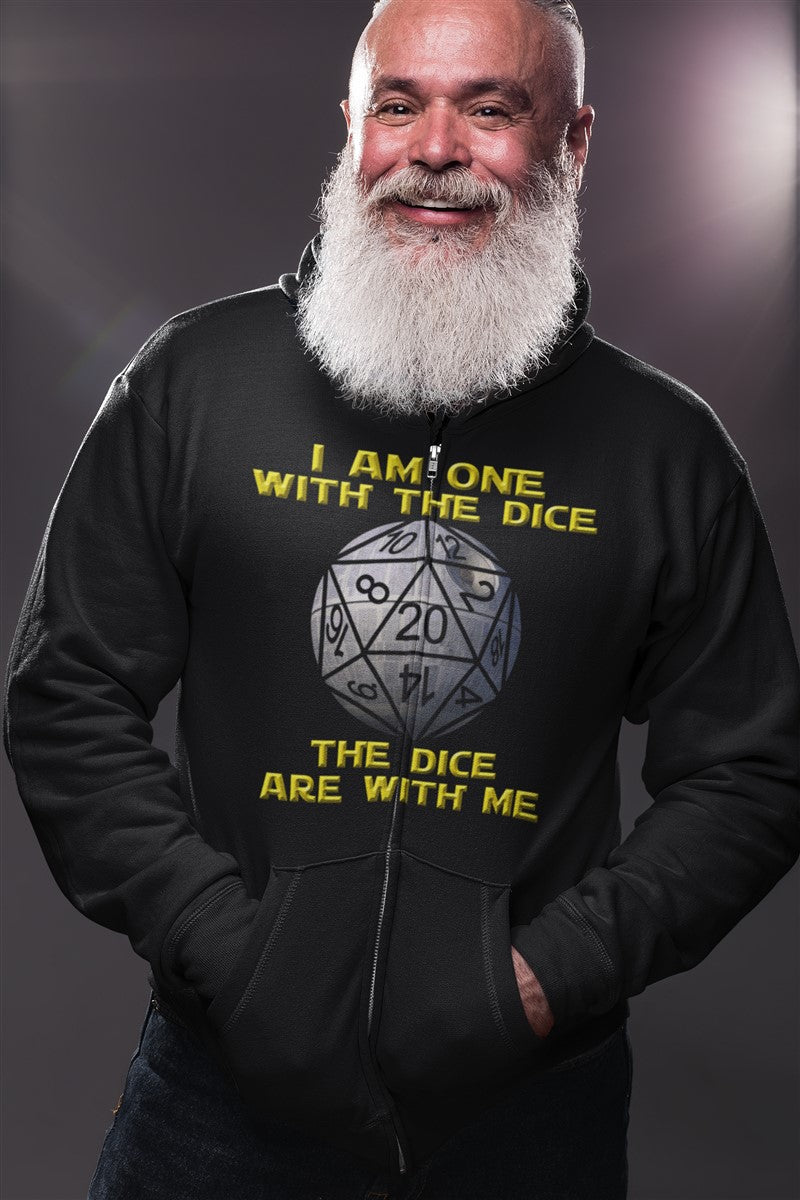 I Am One With The Dice The Dice Are With Me RPG Cotton T-Shirt
