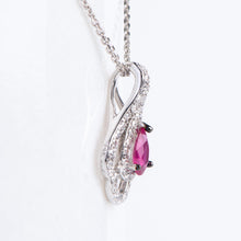 Load image into Gallery viewer, 14kt White Gold Natural Ruby and Diamond Pendant